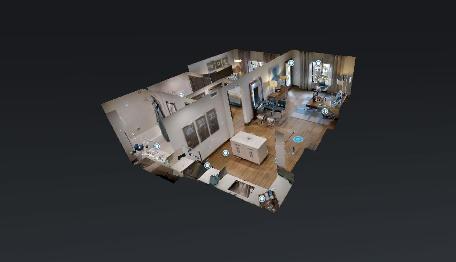 Virtual floorplan - Blu Harbor Apartments